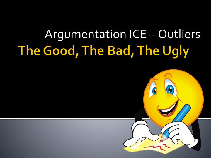 Argumentation ice outliers