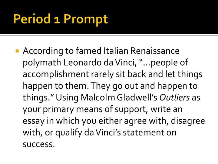 Period 1 Prompt