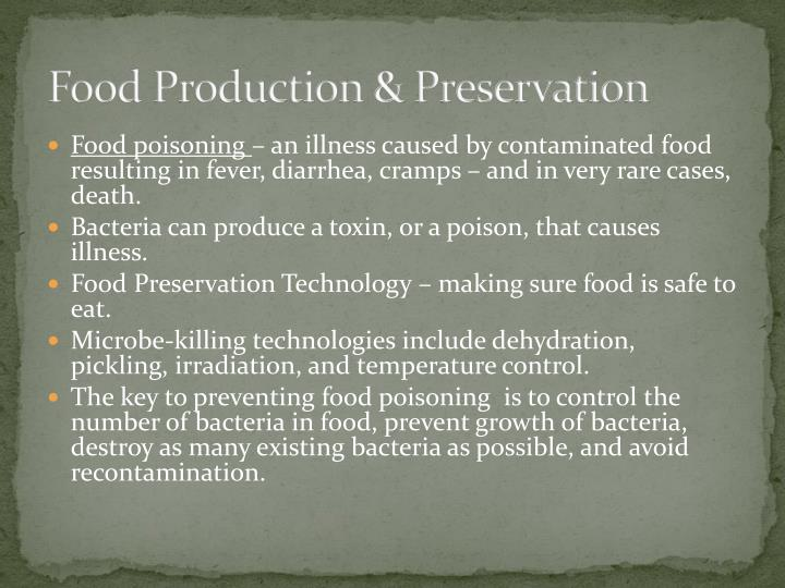 Food Production & Preservation