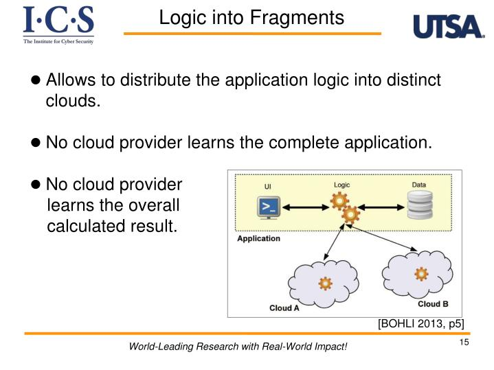 Allows to distribute the application logic into distinct clouds.