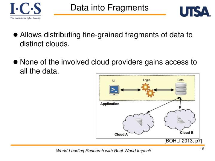 Allows distributing fine-grained fragments of data to distinct clouds.