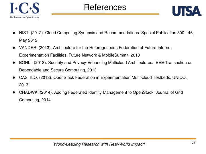 NIST. (2012). Cloud Computing Synopsis and Recommendations. Special Publication 800-146, May 2012
