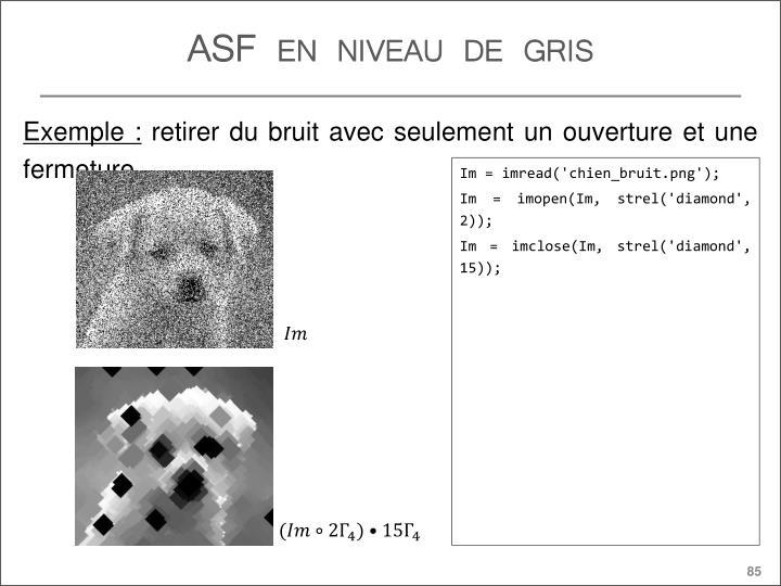 ASF en niveau de gris