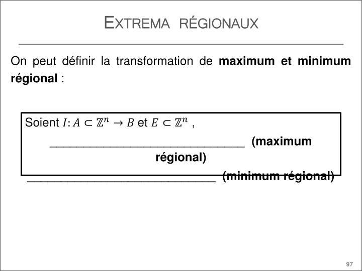 Extrema régionaux