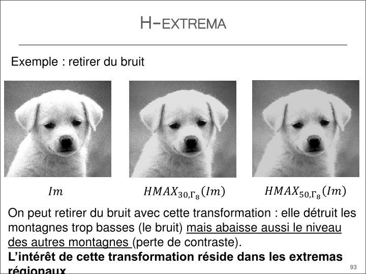 H-extrema