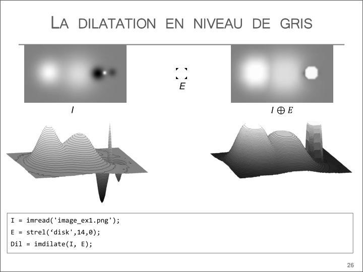La dilatation en niveau de gris
