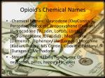 opioid s chemical names
