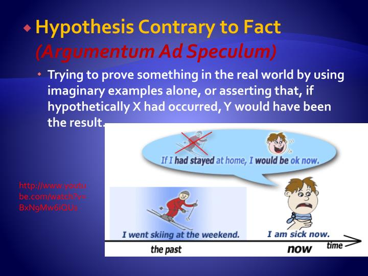 Hypothesis Contrary to Fact