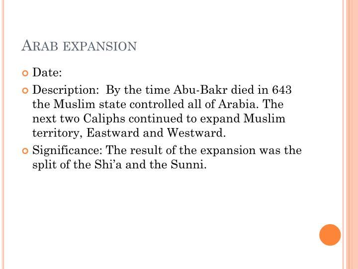 Arab expansion