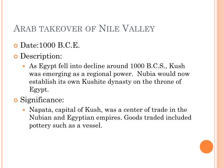 Arab takeover of Nile Valley