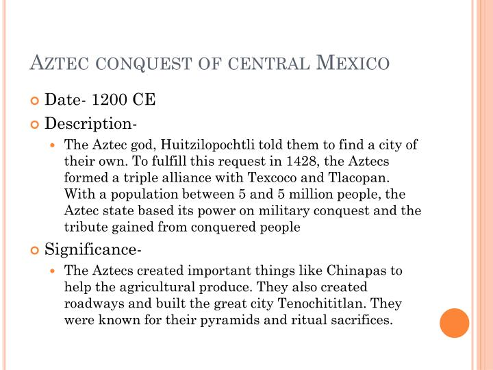 Aztec conquest of central Mexico