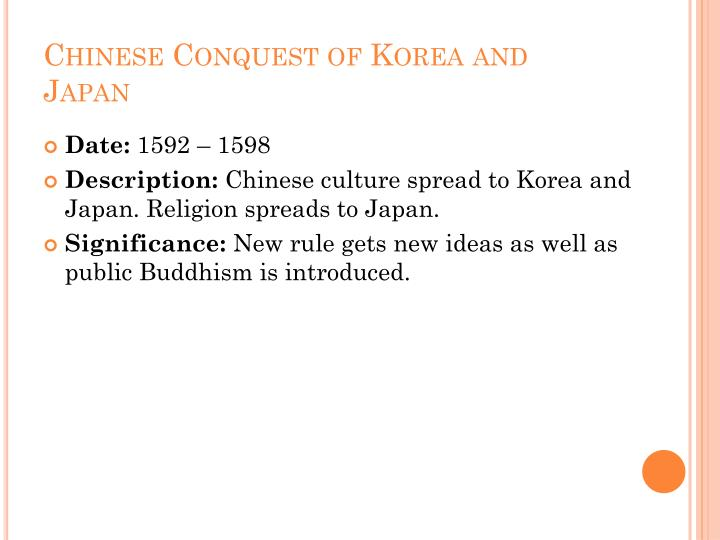 Chinese Conquest of Korea and Japan