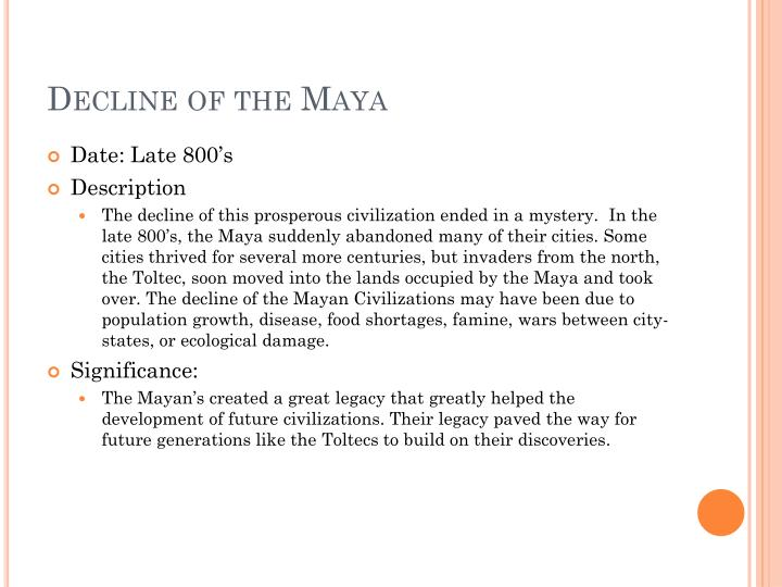 Decline of the Maya
