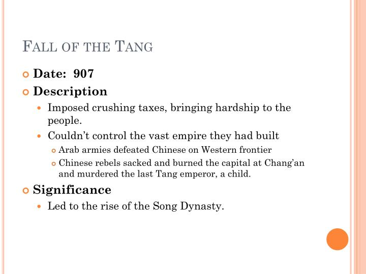 Fall of the Tang