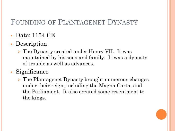 Founding of Plantagenet Dynasty