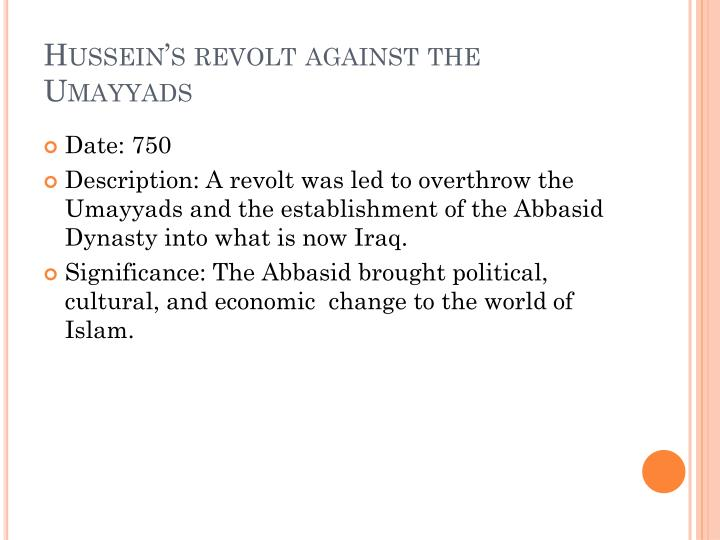Hussein's revolt against the