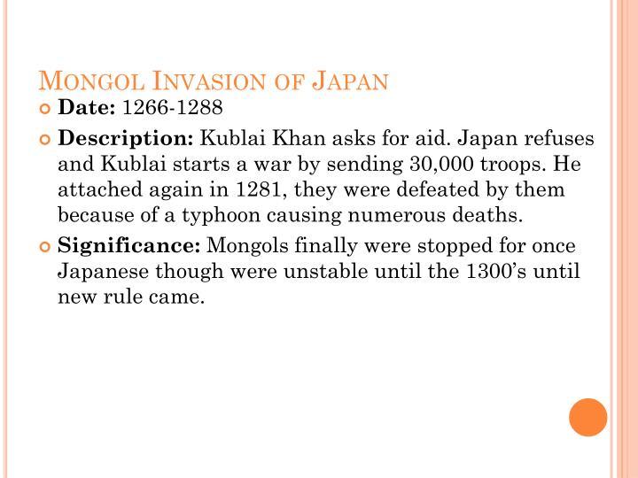 Mongol Invasion of Japan