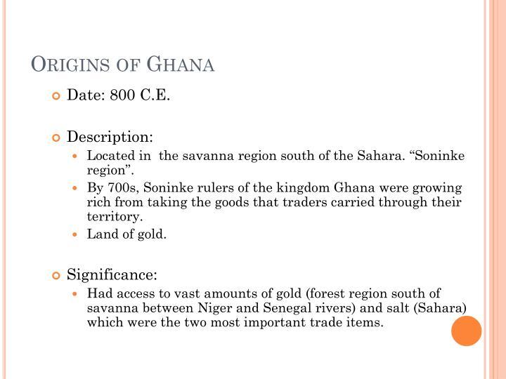 Origins of Ghana