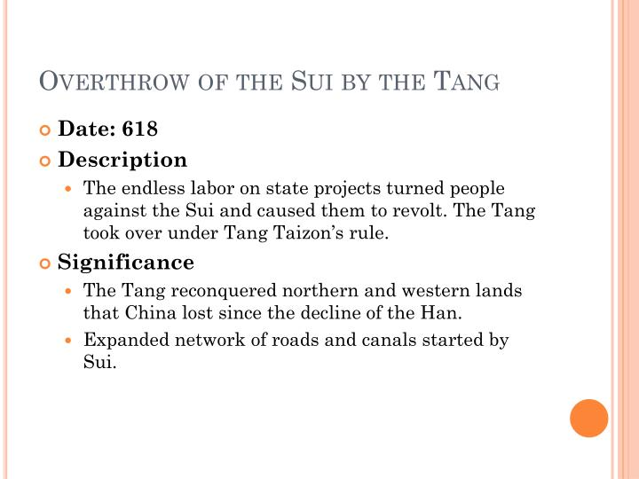 Overthrow of the Sui by the Tang
