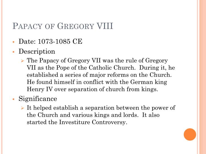Papacy of Gregory VIII