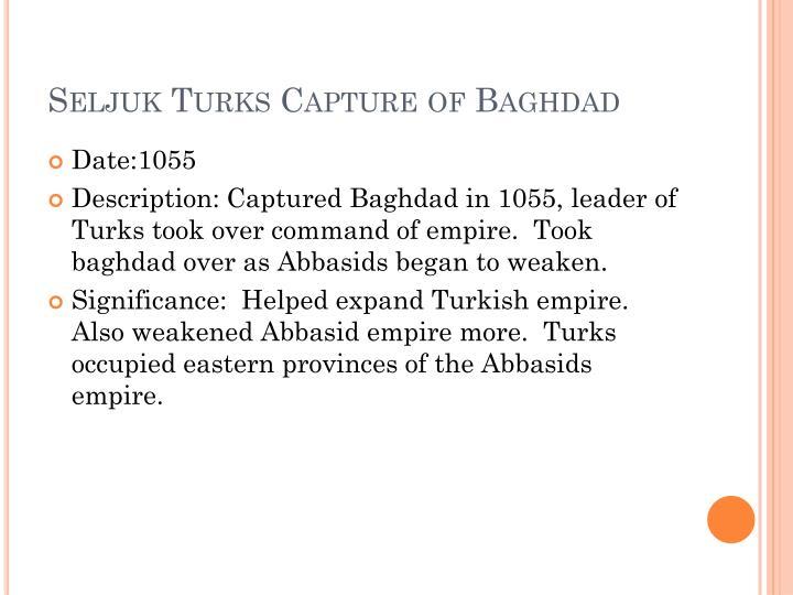 Seljuk Turks Capture of Baghdad