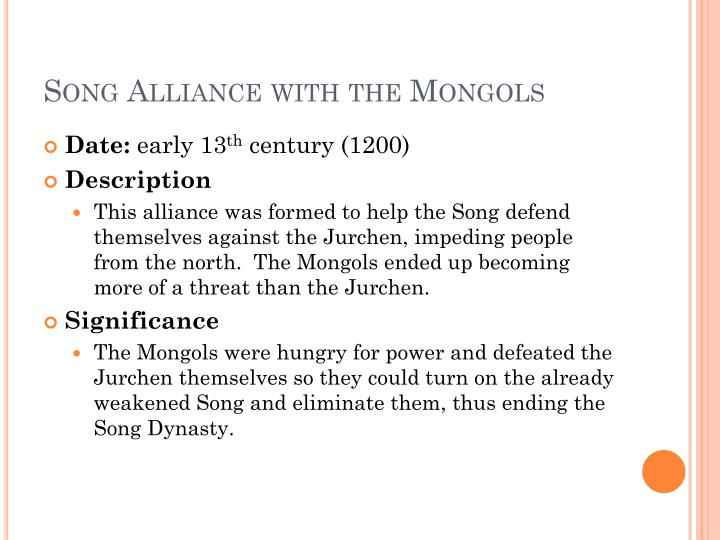 Song Alliance with the Mongols