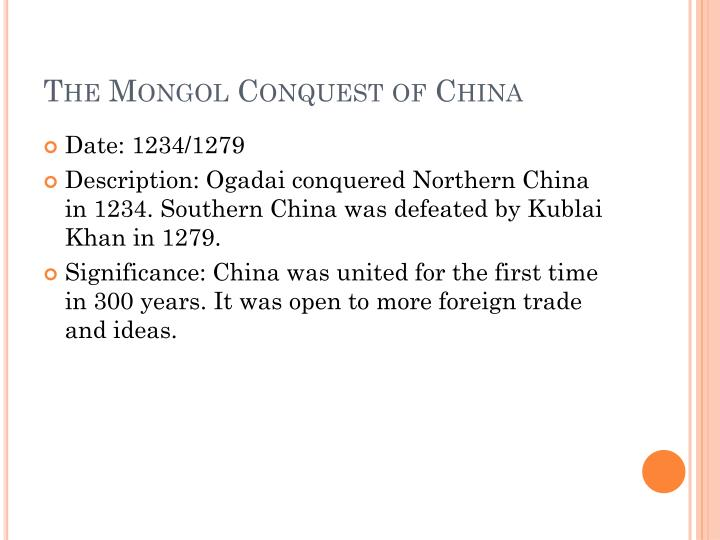 The Mongol Conquest of China