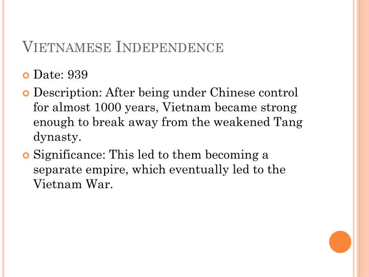 Vietnamese Independence