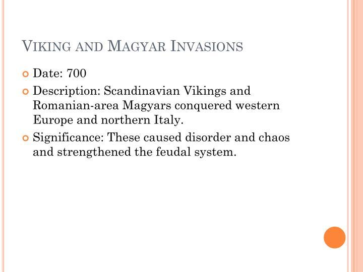 Viking and Magyar Invasions