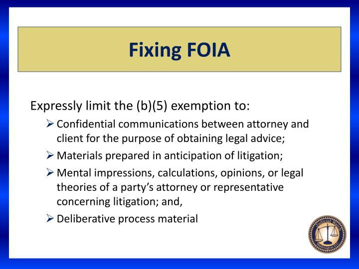 Fixing FOIA