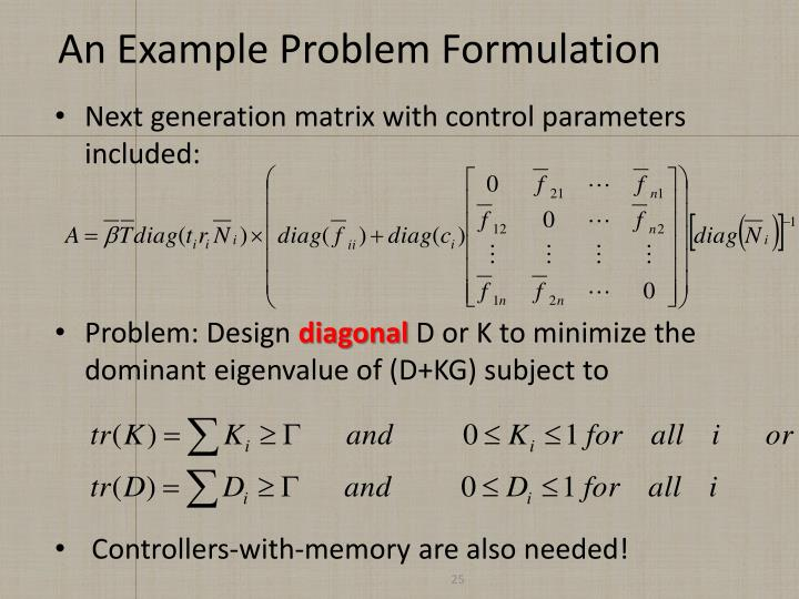 An Example Problem Formulation