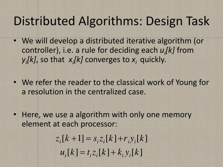 Distributed Algorithms: Design Task