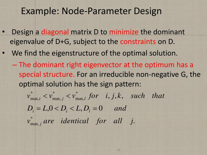 Example: Node-Parameter Design