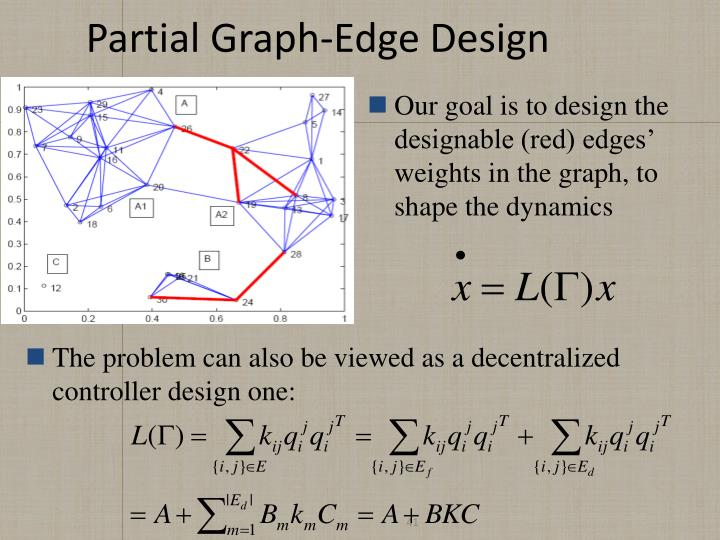 Partial Graph-Edge Design