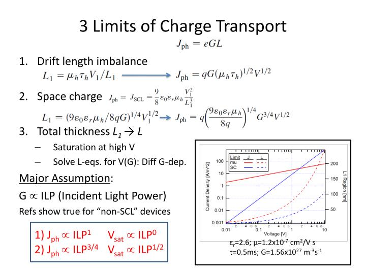3 Limits of Charge Transport