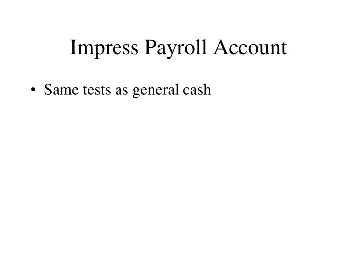 Impress Payroll Account