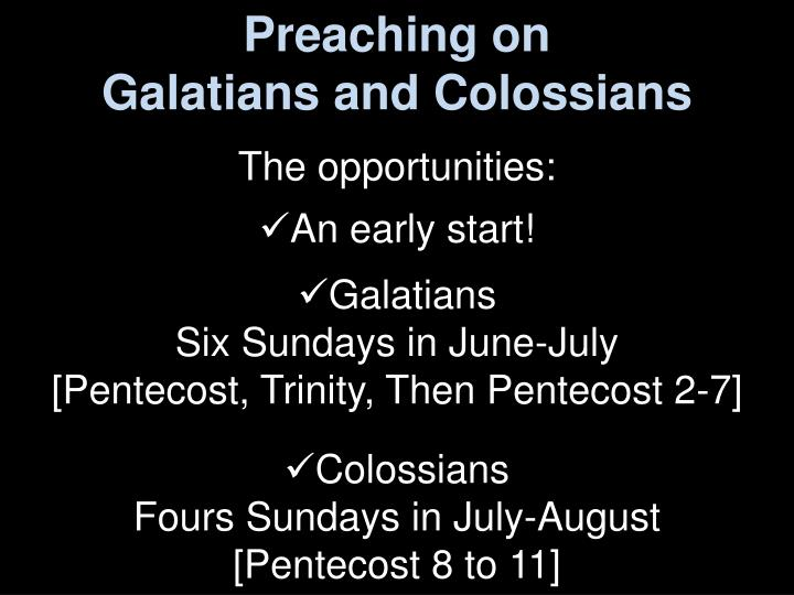 Preaching on