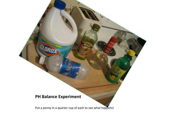 PH Balance Experiment