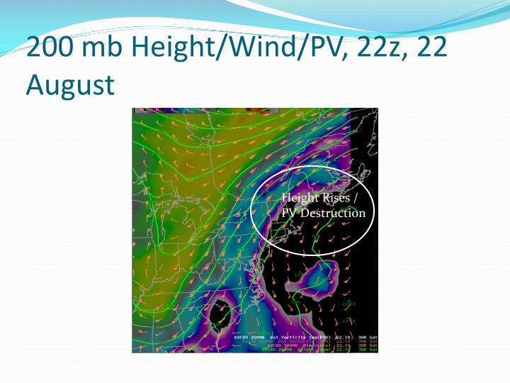 200 mb Height/Wind/PV, 22z, 22 August