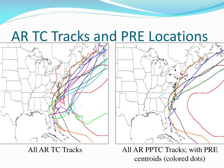 Ar tc tracks and pre locations