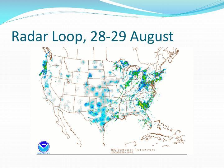Radar Loop, 28-29 August