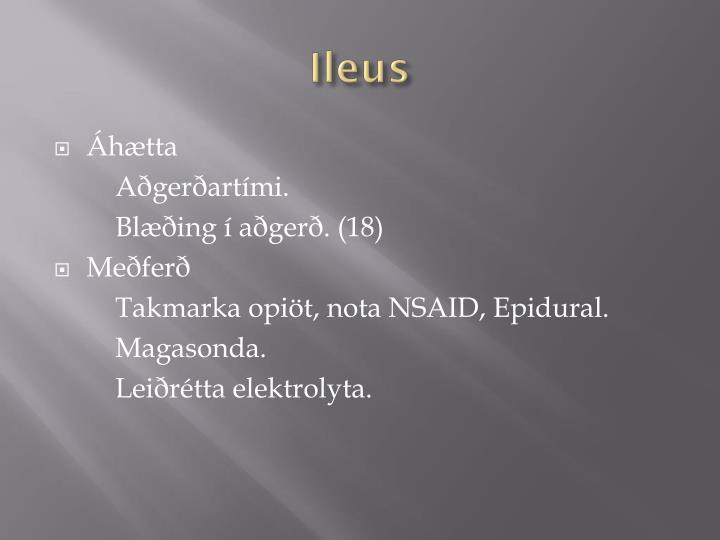 Ileus
