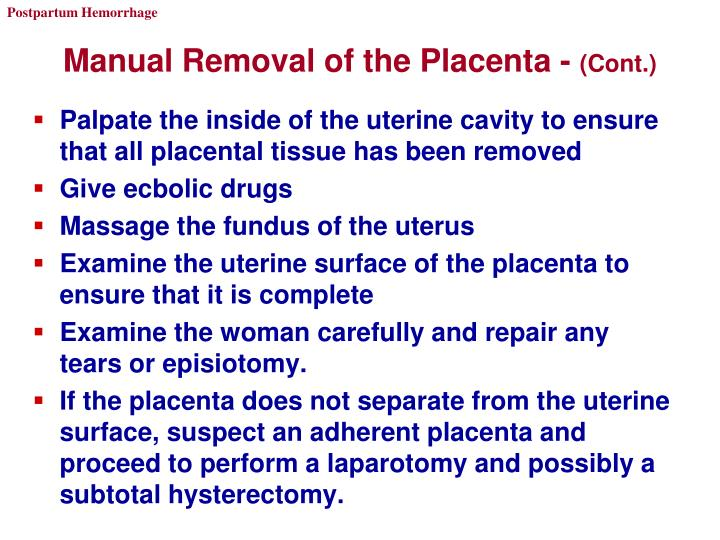Manual Removal of the Placenta -