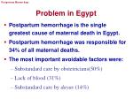problem in egypt
