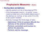 prophylactic measures cont