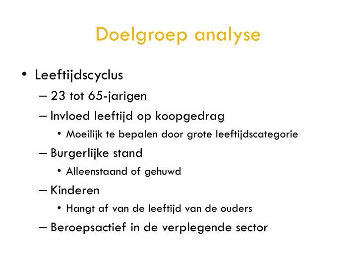 Doelgroep analyse
