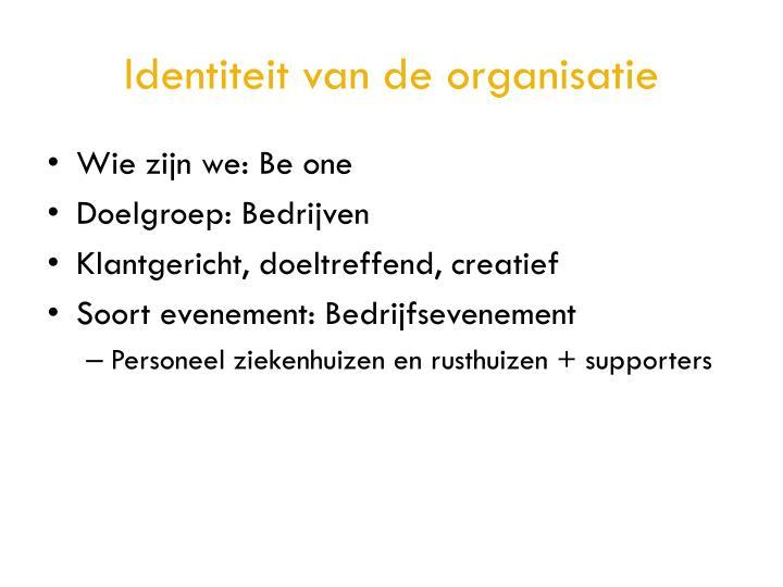 Identiteit van de organisatie