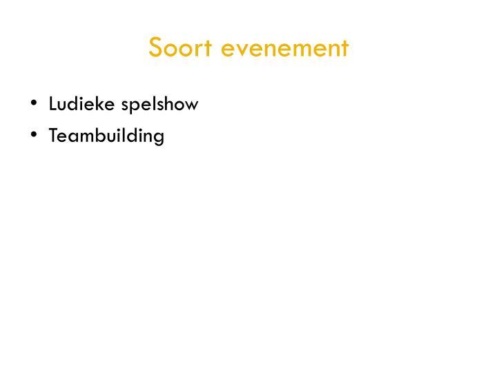 Soort evenement