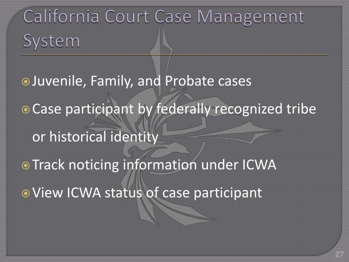 California Court Case Management System