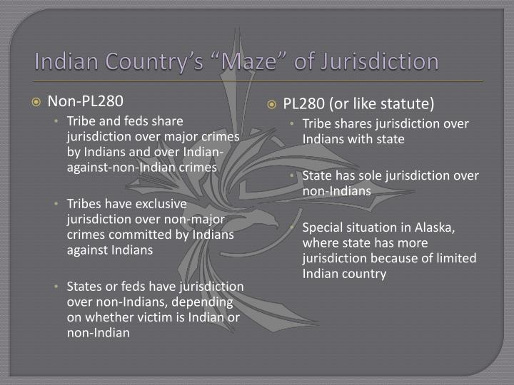 "Indian Country's ""Maze"" of Jurisdiction"